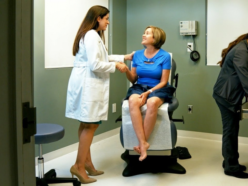 Sclerotherapy treatment video by Monica Ponce, PA-C, at Sunset Dermatology in South Miami.