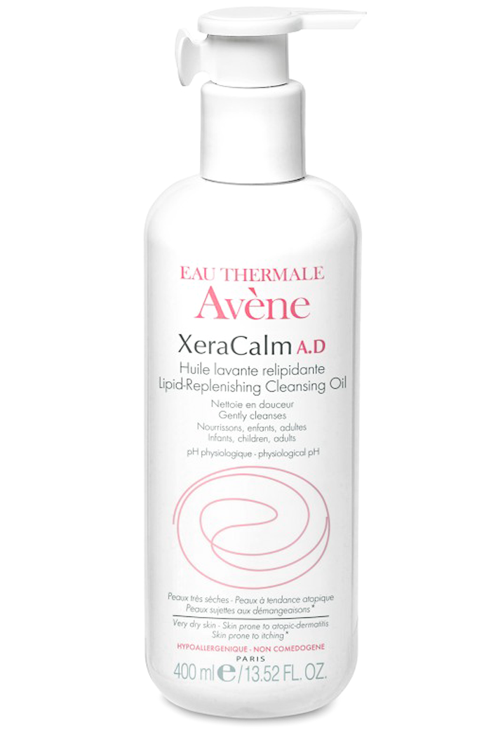 Avene XeraCalm A.D Lipid-Replenishing Cleansing Oil at Sunset Dermatology in South Miami.