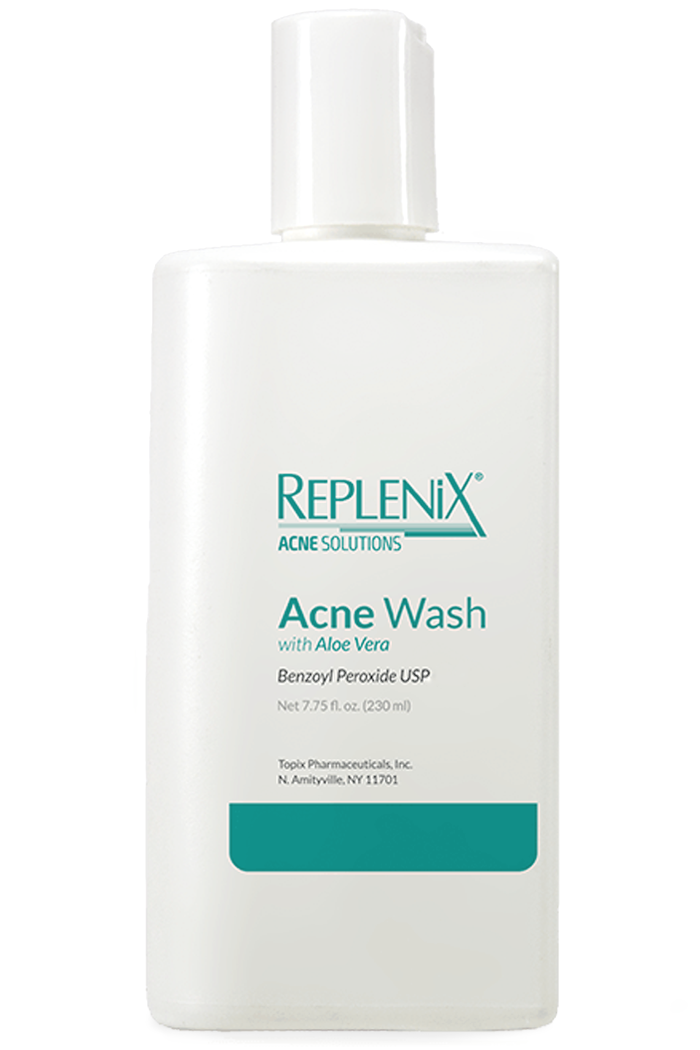 Replenix Acne Benzoyl Peroxide Wash With Aloe Vera at Sunset Dermatology in South Miami.