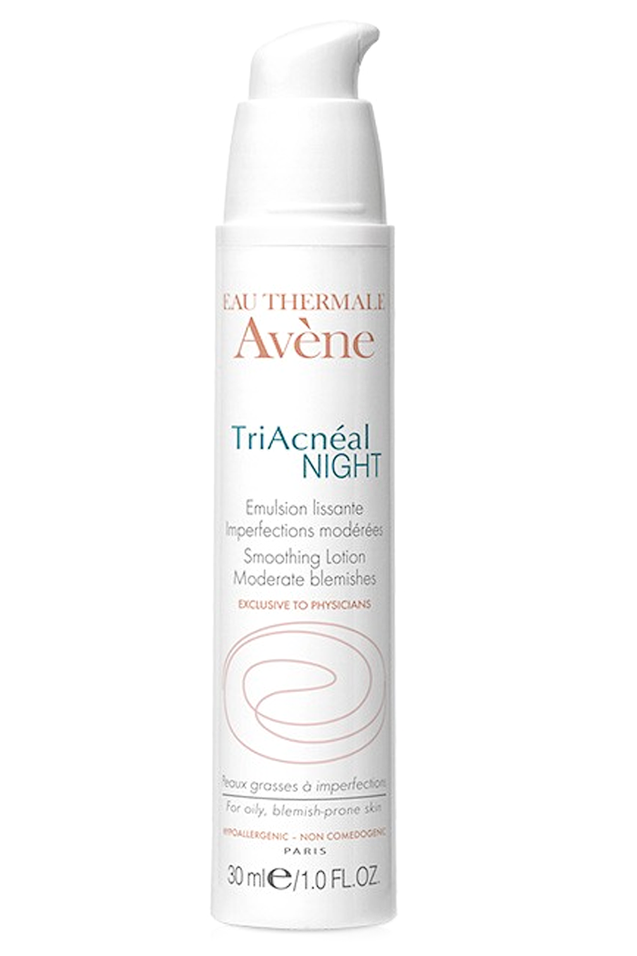 Avene TriAcneal Night Smoothing Lotion at Sunset Dermatology in South Miami.