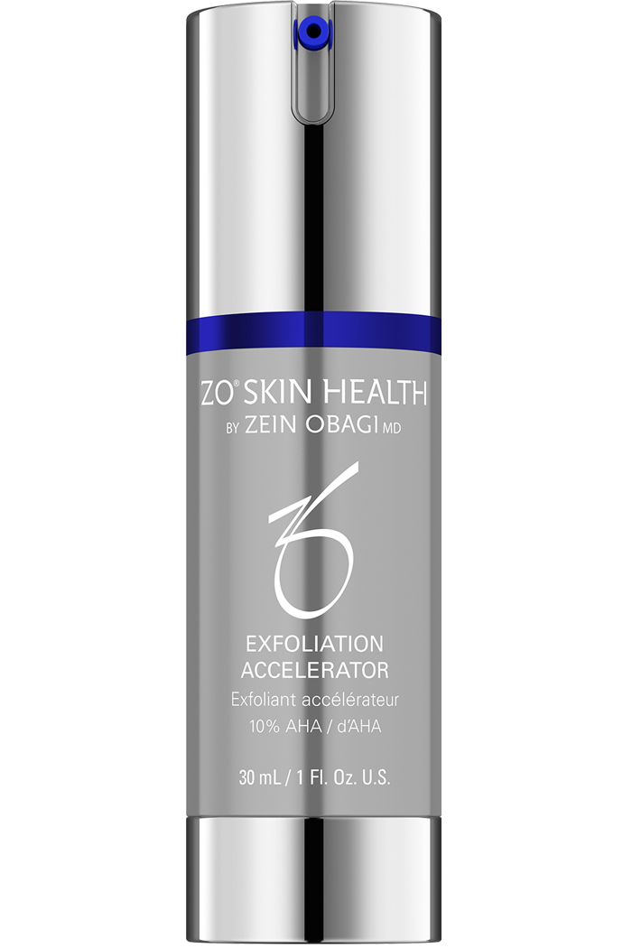 Glycolic and lactic acid complex that aids in the removal of dead skin cells while providing calming and soothing benefits with an aloe, green tea and chamomile blend.