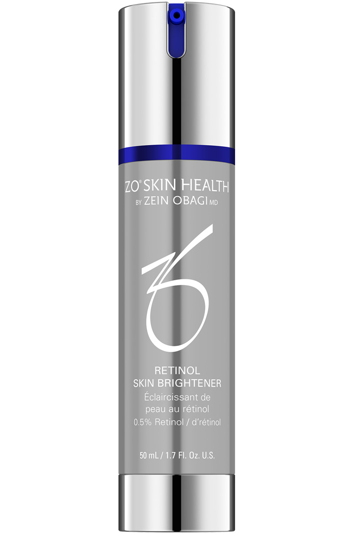0.5% retinol brightens and evens skin tone.